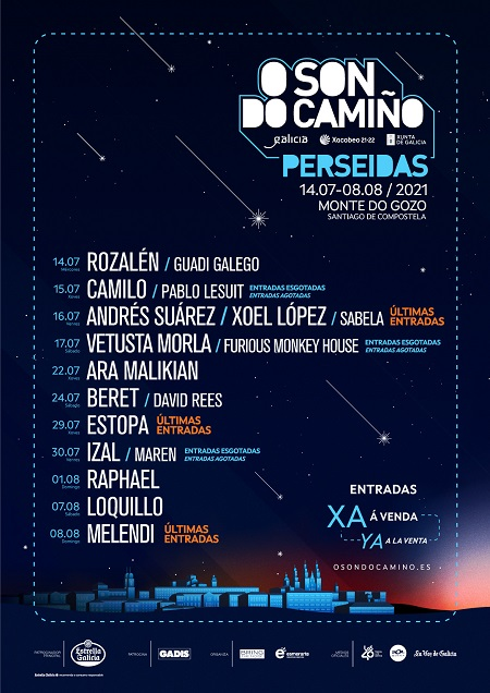 Cartel del festival O Son do Camiño