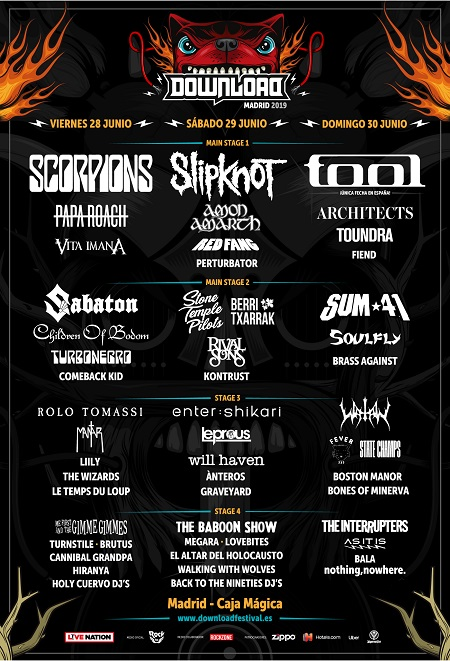 Cartel del Download Festival