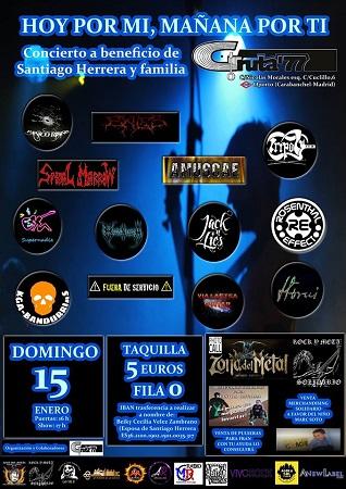 Cartel de Hoy Por Ti Festival Solidario