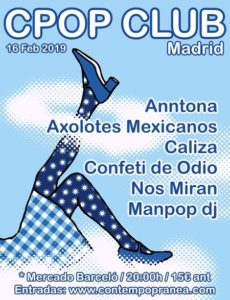 Cartel del CPop Club Madrid