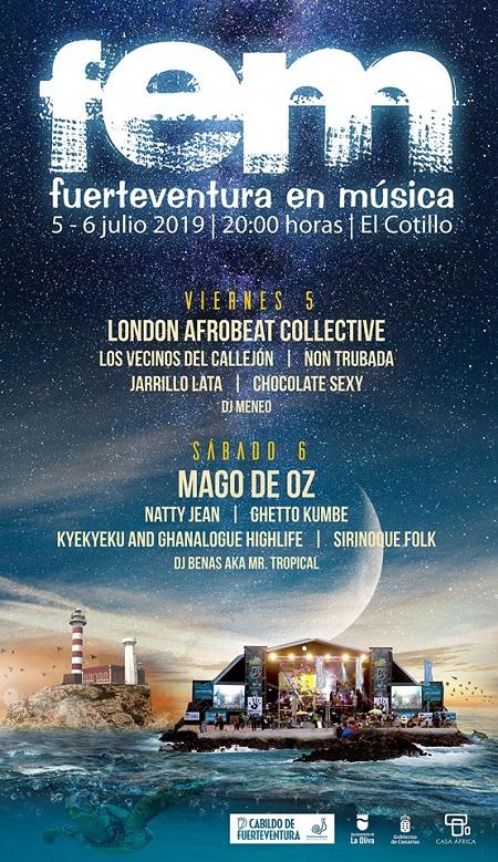 Cartel de Fuerteventura en Música